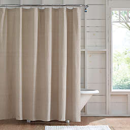 Bee & Willow™ 72-Inch x 98-Inch Dotted Shower Curtain in Pure Cashmere