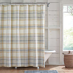 Bee & Willow™ Plaid 72-Inch x 98-Inch Shower Curtain in Blue