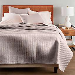 Nestwell™ Stripe Texture 3-Piece Full/Queen Quilt Set in Shadow