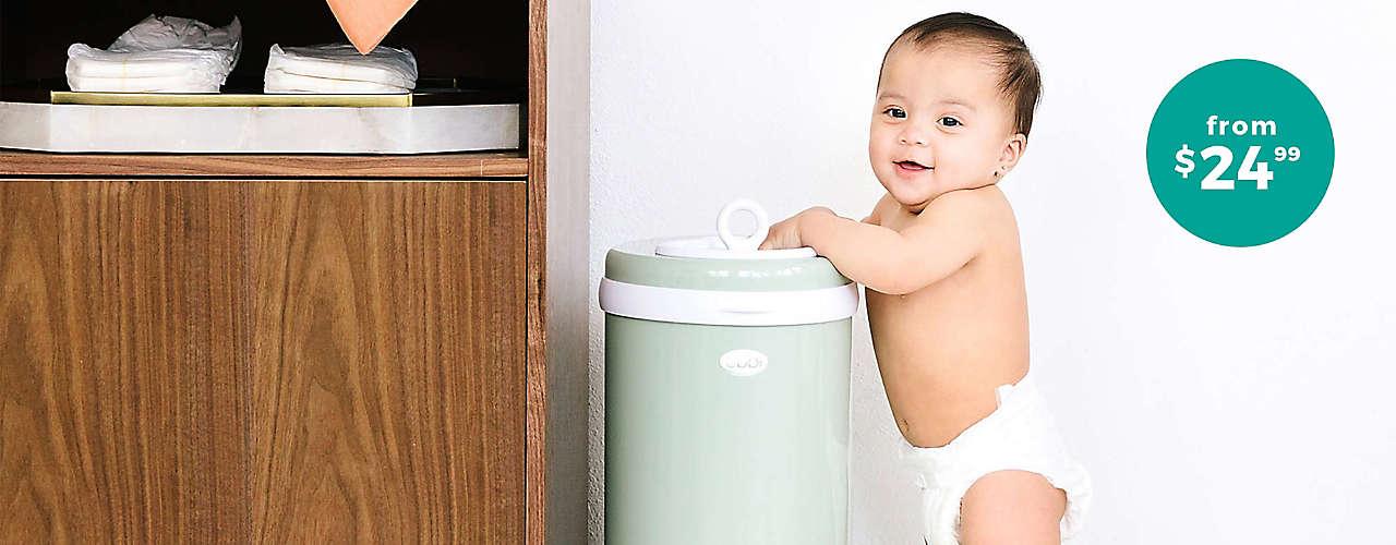 shop diaper pails