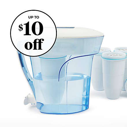 ZeroWater®: $5 off 12- Cup Pitcher + $10 off 4pk Replacement Filters. Shop Now