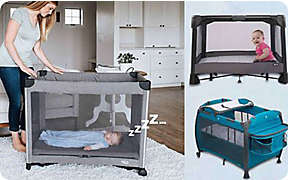 Help baby play and sleep anywhere with play yards.. Shop Now