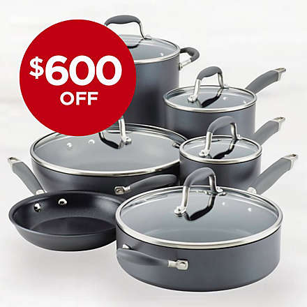 Anolon® Advanced™ Home Hard-Anodized Nonstick 11-Piece Cookware Set for Less. Shop Now