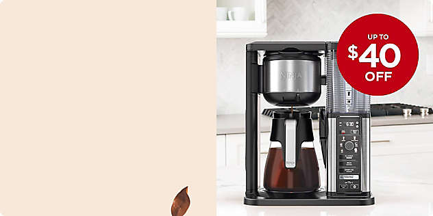 Up to $40 OFF Select Coffee Makers thru 24/Nov.