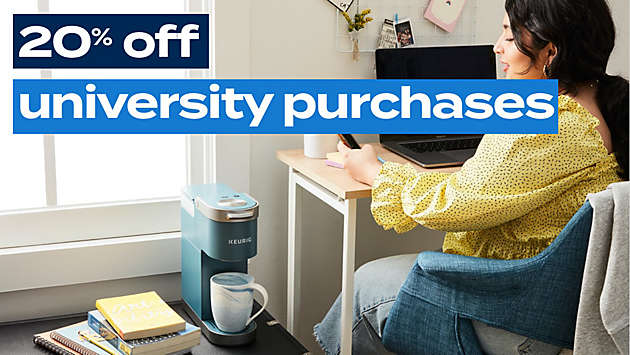 20% off all university purchases!
