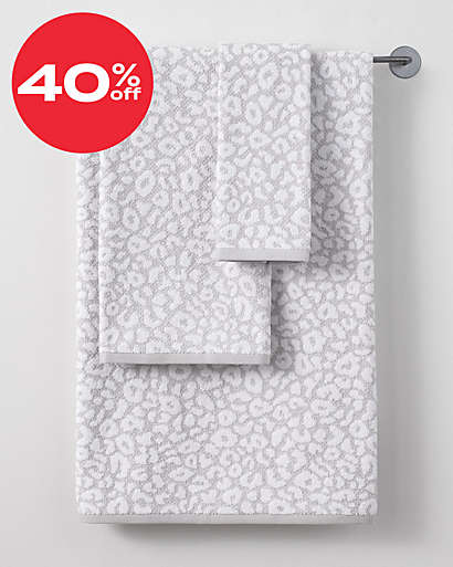 up to 40% off bath towels & rug