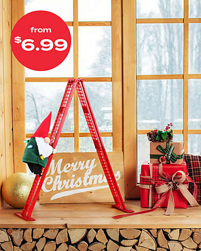 indooor christmas decor starting at $6.99