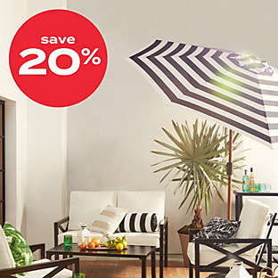up to 20% of select umbrellas