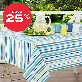 up to 25% of outdoor table linens