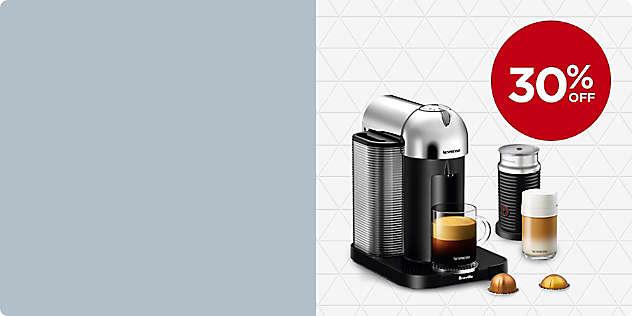30% OFF Select Nespresso® Machines thru 27/Feb