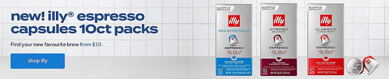 new! illy® espresso capsules 10ct packs