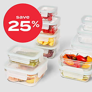 Save 25% Glasslock food storage set