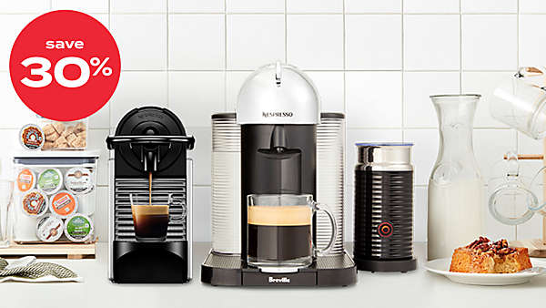 up to 30% off Nespresso® machines