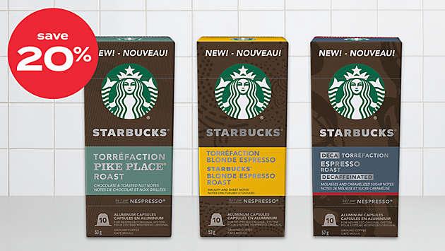 20% off Starbucks® by Nespresso® coffee 10ct capsules
