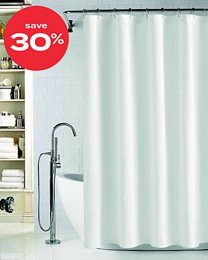 up to 30% off shower curtains
