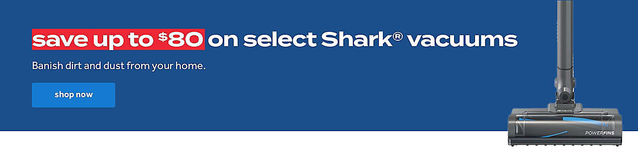 up to $80 on shark vacuums