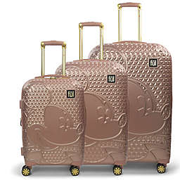ful® Disney® Mickey 3-Piece Hard Side Spinner Luggage Set in Rose Gold
