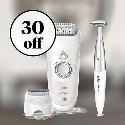 Save $30 on the Braun Silk-epil 7 Wet & Dry Epilator. Shop Now