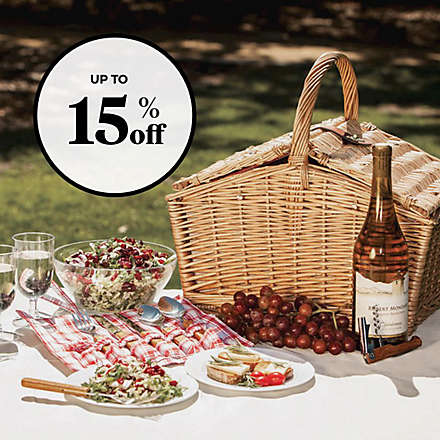 Save on Select Picnic Time® Picnic Baskets™. Shop Now