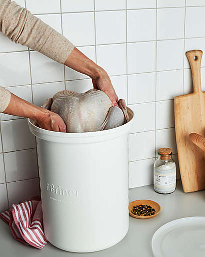 Set up with the right prep tools. Like our brining kits! Made to fit an entire turkey.