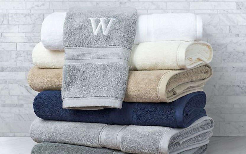 Bath Towels Embellishment Pintuck Bed