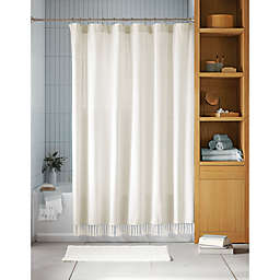 Haven™ Pique Organic Cotton Shower Curtain