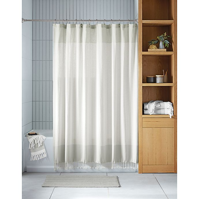 Alternate image 1 for Haven™ Two Tone Organic Cotton Shower Curtain