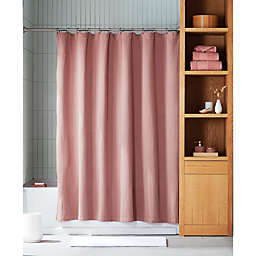 Haven™ Washed 72-Inch x 86-Inch Faille Shower Curtain in Brown