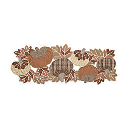 36-Inch New Beaded Pumpkin and Leaf Centerpiece Table Runner