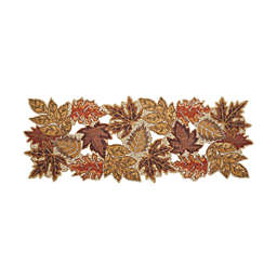 36-Inch New Beaded Leaf Centerpiece Table Runner