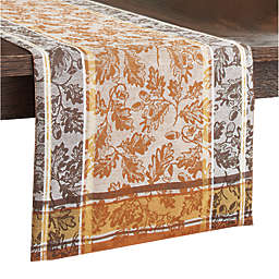 Acorns and Leaves Cotton Jacquard Table Runner