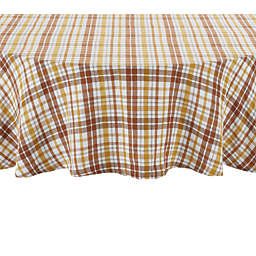 Harvest Plaid 70-Inch Round Tablecloth