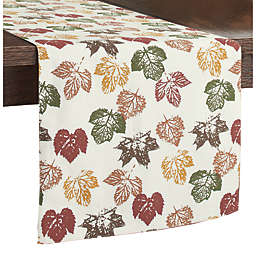 Stamped Leaves Table Runner