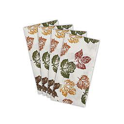 Stamped Leaves Napkins (Set of 4)