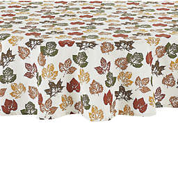 Stamped Leaves 70-Inch Round Tablecloth