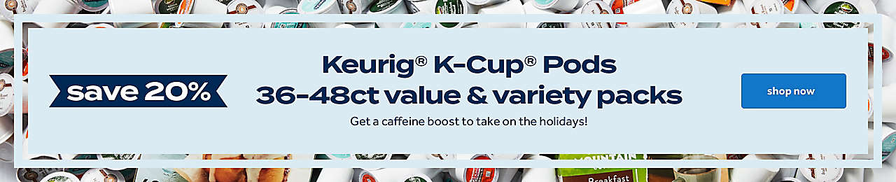 keurig K-cup pods 20% off