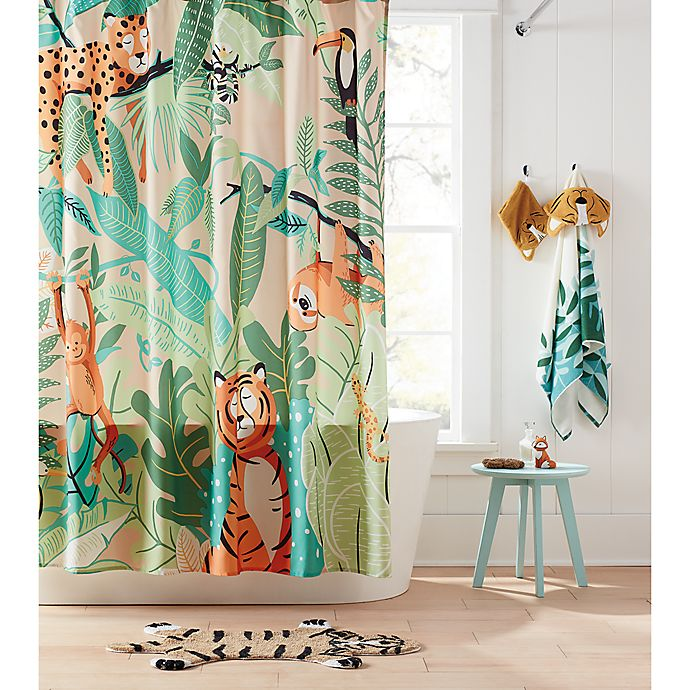 Alternate image 1 for Marmalade™ 72-Inch x 72-Inch Jungle Friends Shower Curtain