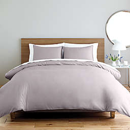 Nestwell™ Solid Sateen 2-Piece Twin Duvet Cover Set in Lilac Marble