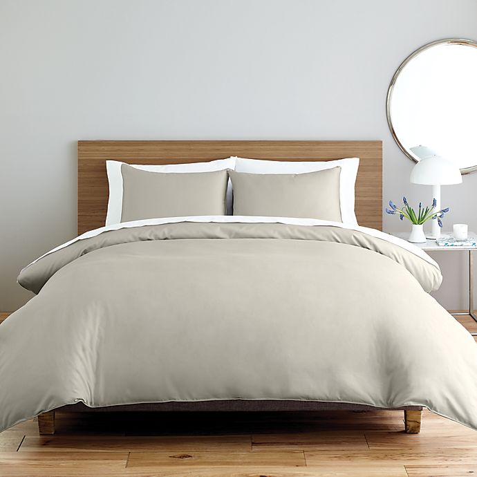 Alternate image 1 for Nestwell™ Solid Sateen 2-Piece Twin Duvet Cover Set in Silver Birch
