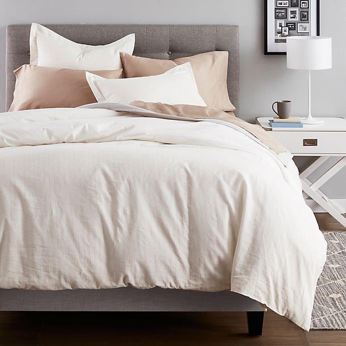 Alternate image 1 for Nestwell™ Pinstripe Cotton Linen 3-Piece Comforter Set