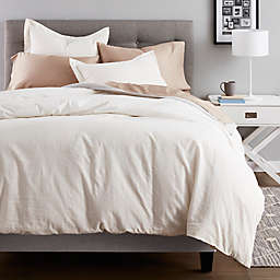 Nestwell™ Pinstripe Cotton Linen 3-Piece Duvet Cover Set