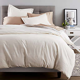 Nestwell™ Pinstripe 2-Piece Twin Duvet Cover Set in White/Natural