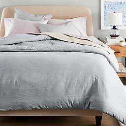 Nestwell™ Washed Linen Cotton 2-Piece Twin Comforter Set in Grey