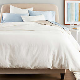 Nestwell™ Washed Linen Cotton 3-Piece King Duvet Cover Set in White