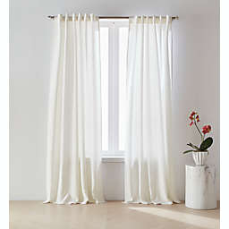 O&O by Olivia & Oliver™ Belgian 95-Inch Rod Pocket Window Curtain Panel in White