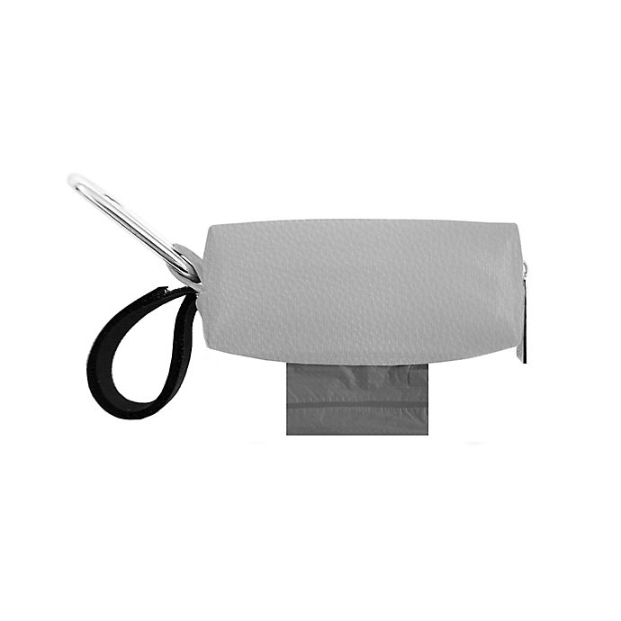 Alternate image 1 for Oh Baby Bags Clip-On Faux Leather Wet Bag Dispenser in Grey