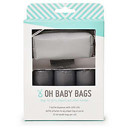 Oh Baby Bags Faux Leather Wet Bag Dispenser Gift Box in Grey