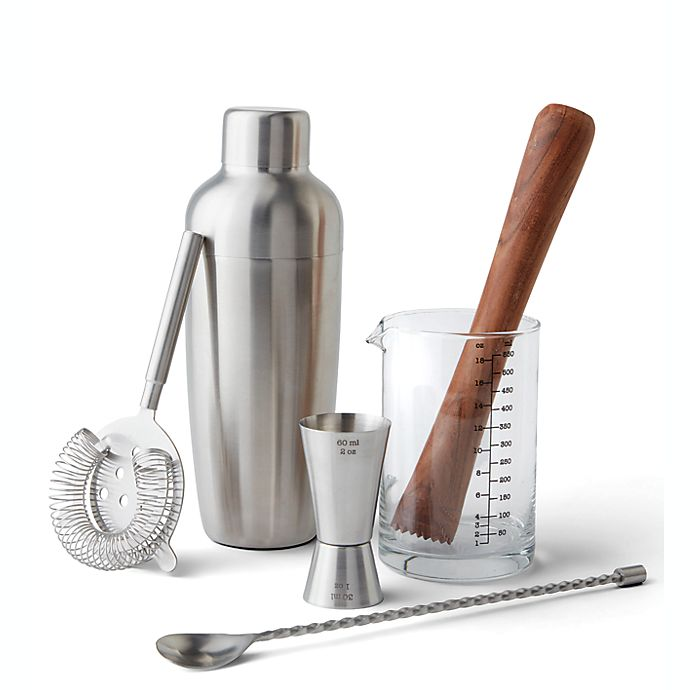 Alternate image 1 for Our Table™ Preston 6-Piece Mixologist Set in Matte Silver