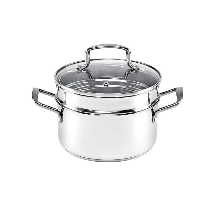 Alternate image 1 for Our Table™ 3 qt. Stainless Steel Covered Soup Pot