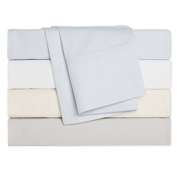 Alternate image 1 for Nestwell™ Cotton Percale 400-Thread-Count Flat Sheet